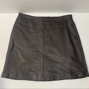 RAMPAGE LEATHER BROWN SKIRT